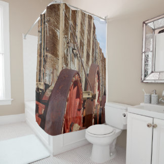 Wooden Wagon Rustic Country Shower Curtain