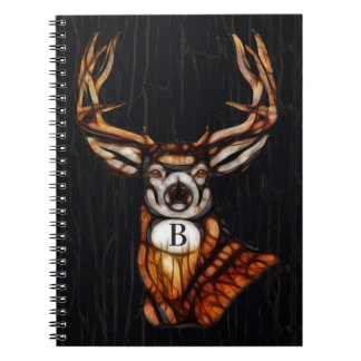 Wooden Wood Deer Rustic Country Personalized Notebook