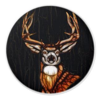 Wooden Wood Deer Rustic Country Unique Ceramic Knob