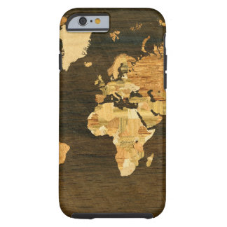 Wooden World Map Tough iPhone 6 Case