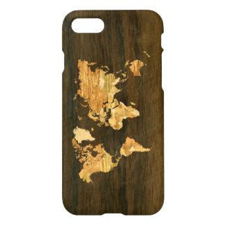 Wooden World Map iPhone 7 Case