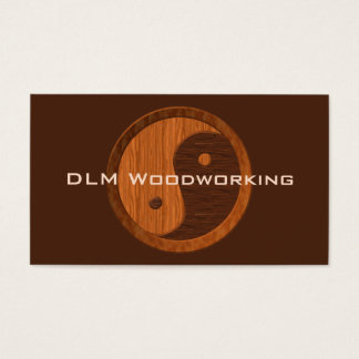Wooden Yin Yang Business Card