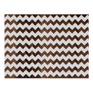 Wooden Zig Zag with white fabric Image Print Postcards