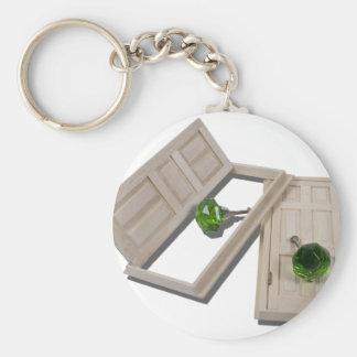 WoodenDoorsCrystalDoorknobs021411 Basic Round Button Key Ring