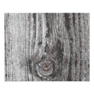 Woodgrain Picture. Full Color Flyer