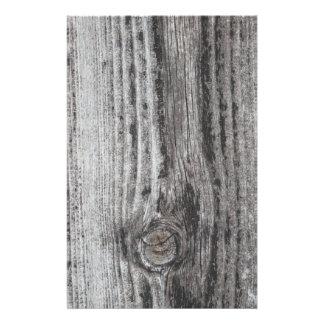Woodgrain Picture Full Color Flyer