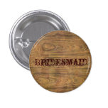 Woodgrain Rustic Country cowboyWedding Pin