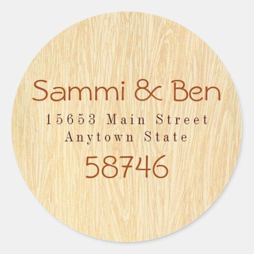 Woodgrain Sticker Label