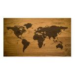 Woodgrain Textured World Map