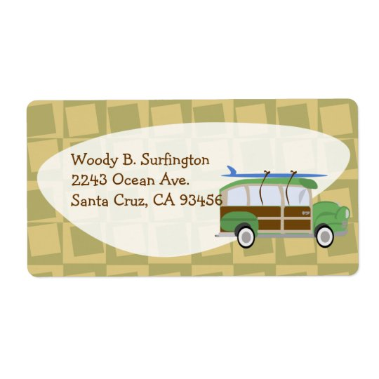 Woodie Wagon Label Shipping Label