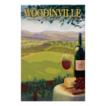 Woodinville, Washington Wine Country Travel Poster
