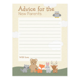 "Woodland ""Advice"" Postcard"