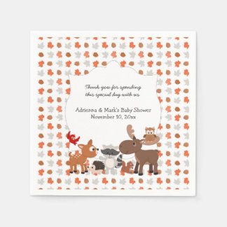 Woodland Animal Baby Shower / Birthday Party Paper Napkins