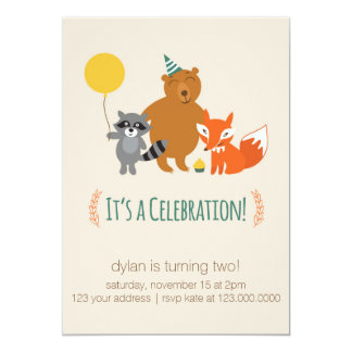 Woodland Animal Invitation