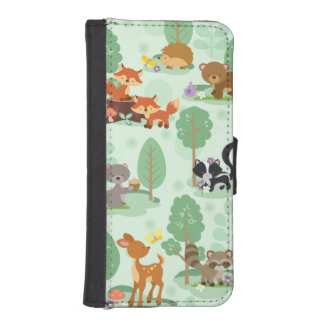 Woodland Animal iPhone 5/5S Wallet Phone Case