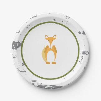 Woodland Animal Paper Plates- Fox Paper Plates