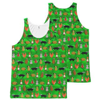 Woodland Animals All-Over Print Singlet