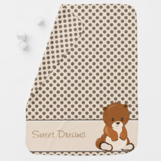 Woodland Animals   Baby Bear   Personalized Baby Blanket