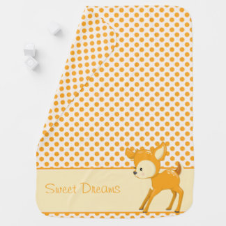 Woodland Animals | Baby Deer| Personalized Baby Blanket