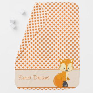 Woodland Animals | Baby Fox | Personalized Baby Blanket