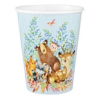Woodland Animals Baby Shower Paper Cup