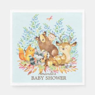 Woodland Animals Baby Shower Paper Napkins Disposable Serviette