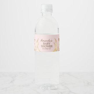 Woodland Animals Baby Shower Water Bottle Label