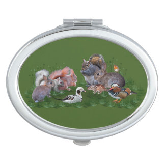 Woodland Animals Compact Mirror