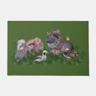 Woodland Animals Door Mat