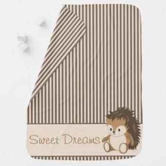 Woodland Animals Hedgehog | Personalized Baby Blanket