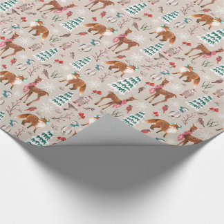 Woodland Animals | Holiday | Glossy Wrapping Paper