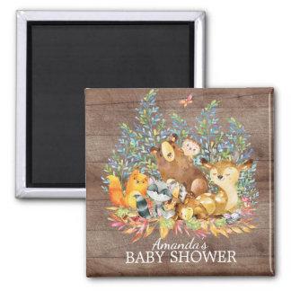Woodland Animals Neutral Baby Shower Favor Magnet