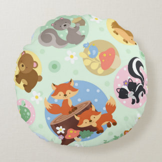 Round Animal Pillows : Woodland Animal Cushions - Woodland Animal Scatter Cushions Zazzle.com.au