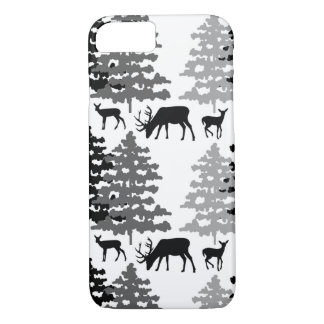 Woodland Animals Rustic Deer Antlers Winter Forest iPhone 8/7 Case