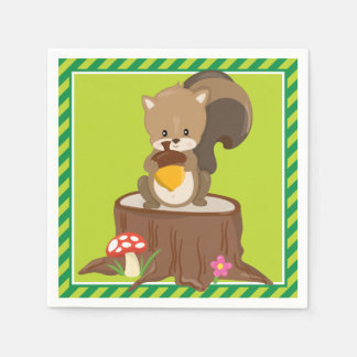 Woodland Animals | Squirrel Paper Napkin