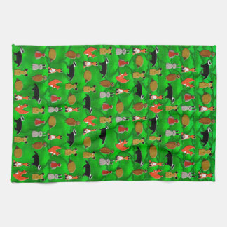 Woodland Animals Tea Towel