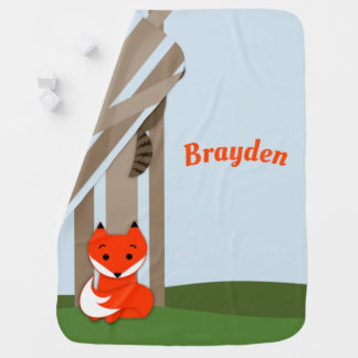 Woodland Babies Personalized Baby Blanket