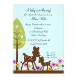 Woodland Baby Deer Boy Baby Shower Invitation