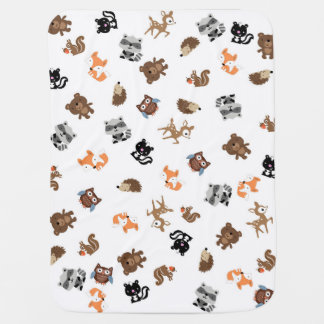 Woodland Baby Mash Up Blanket *White