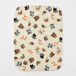 Woodland Baby Mash Up Burp Cloth *Light Yellow