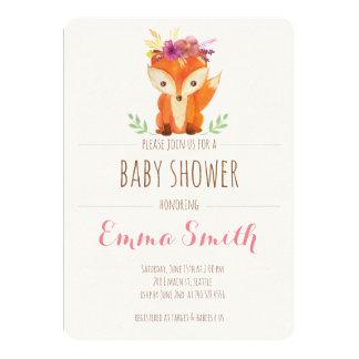 Woodland Baby Shower Invitation Girl