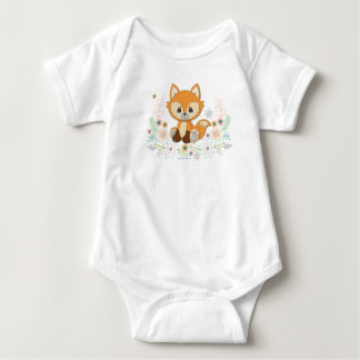 Woodland Baby Sweet & Clever Fox Design Baby Bodysuit