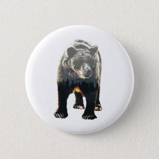 Woodland Bear 6 Cm Round Badge