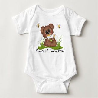 Woodland Bear Cute as Can Bee Baby Infant Bodysuit