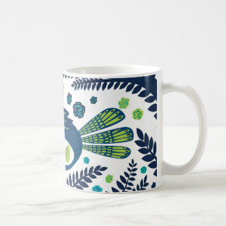 woodland bird coffee mug