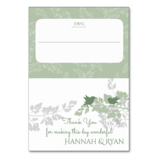 Woodland Birds and Foliage Green Card