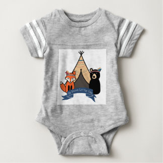 Woodland Bodysuit, Boy's, Be Brave Little One Baby Bodysuit