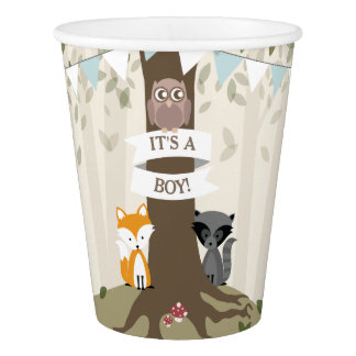 Woodland Boy Baby Shower Cup