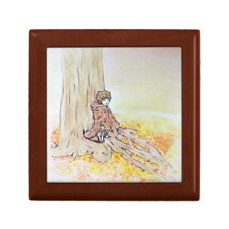 Woodland Boy Small Square Gift Box