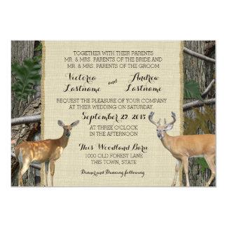 Woodland Buck and Doe Wedding Card